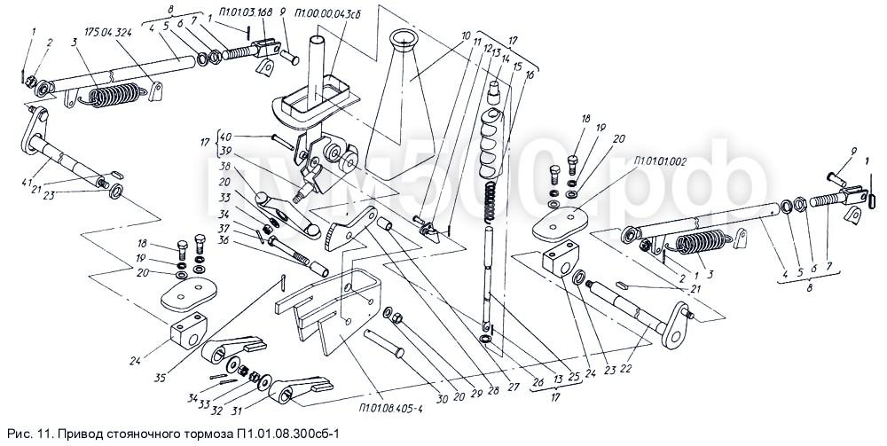 ПУМ-500 - Привод стояночного тормоза П1.01.08.300сб-1