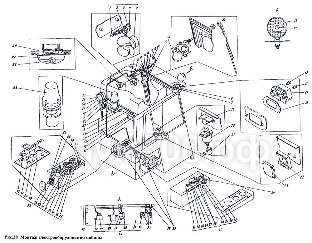 ПУМ-500 - Электрооборудование кабины П1.13.07сб