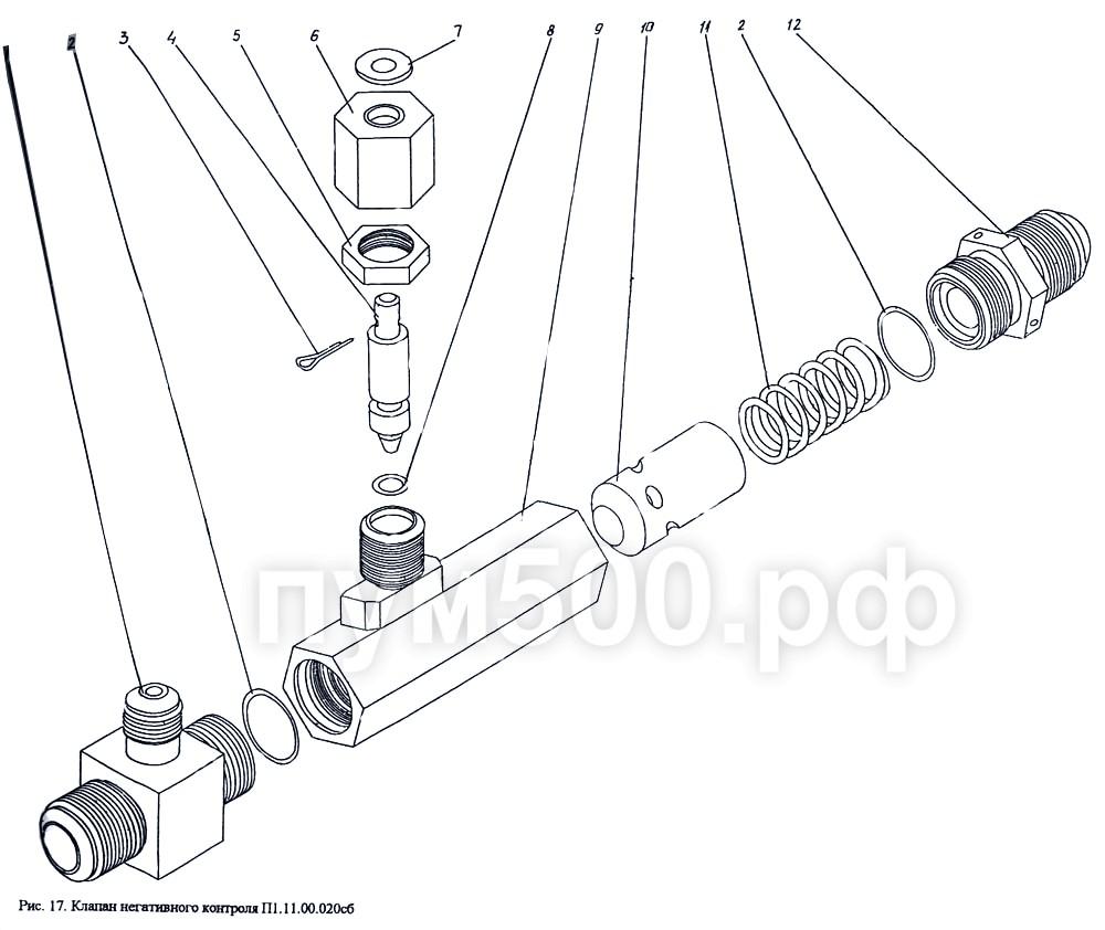 ПУМ-500 - Клапан негативного контроля П1.11.00.020сб