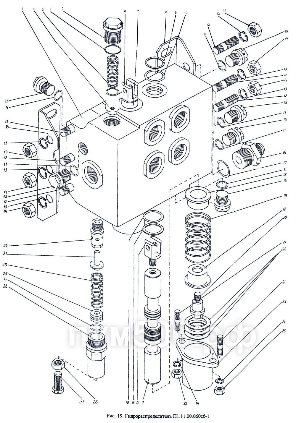 ПУМ-500 - Гидрораспределитель П1.11-00.060сб-1