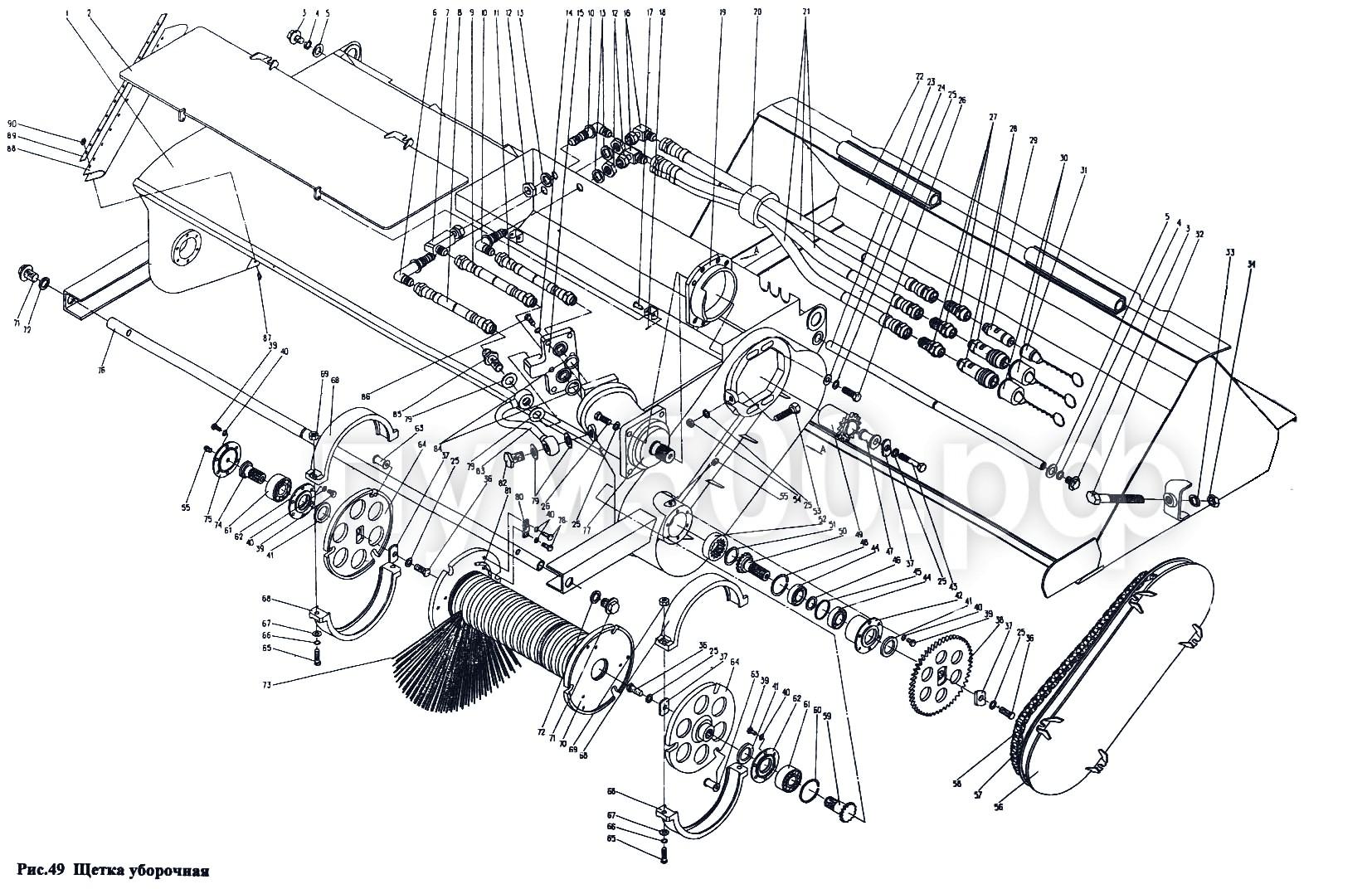 ПУМ-500 - Щетка уборочная П1.51сб
