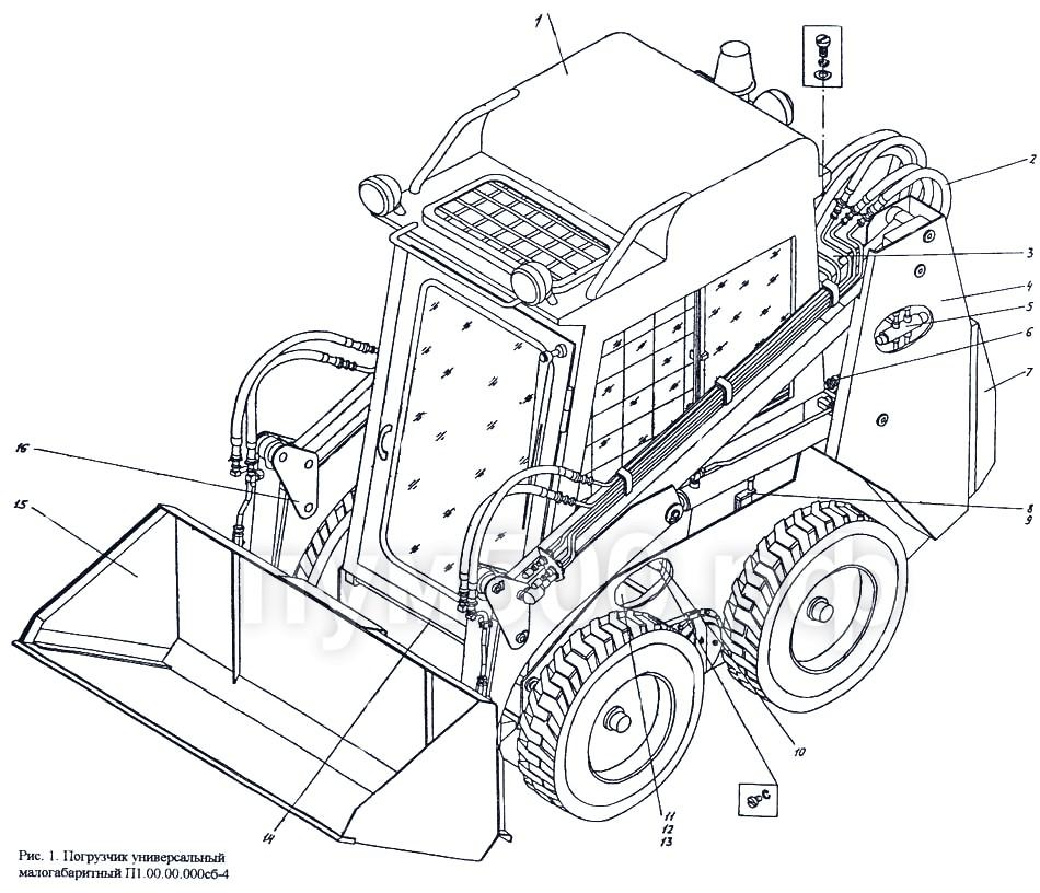 ПУМ-500 - Погрузчик универсальный малогабаритный П1.00.00.000сб-4