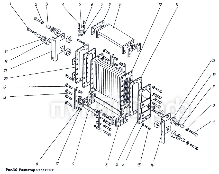 ПУМ-500 - Радиатор масляный П1.11.08сб-2
