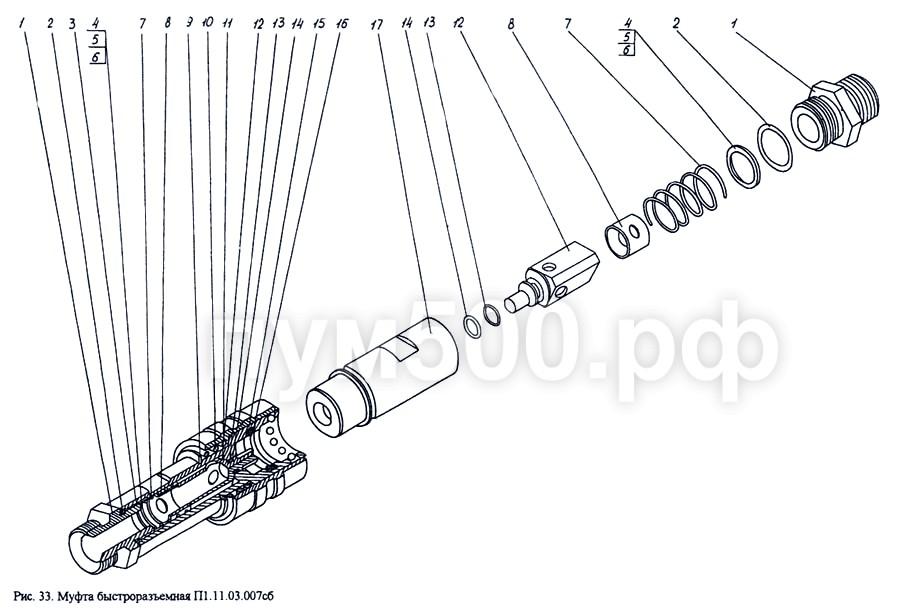 ПУМ-500 - Муфта быстроразъемная П1.11.03.007сб