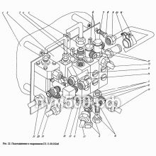 ПУМ-500 Подсоединение к гидропанели П1.11.00.032сб