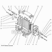 ПУМ-500 Радиатор масляный П1.11.08сб-2
