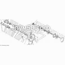 ПУМ-500 Редуктор насосов и сцепление ПУМ-500.01.05-1сб