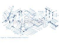Установка левой колонки управления П1.11.06.001сб-1 ПУМ-500