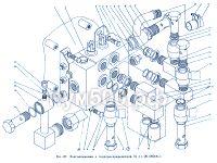 Подсоединение к гидрораспределителю П1.11.00.060сб-1 ПУМ-500