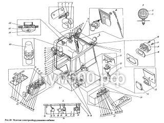 Электрооборудование кабины П1.13.07сб ПУМ-500