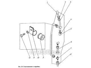 Подсоединение к гидробаку ПУМ-500