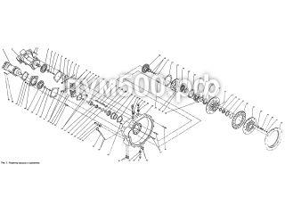 Редуктор насосов и сцепление ПУМ-500.01.05-1сб ПУМ-500